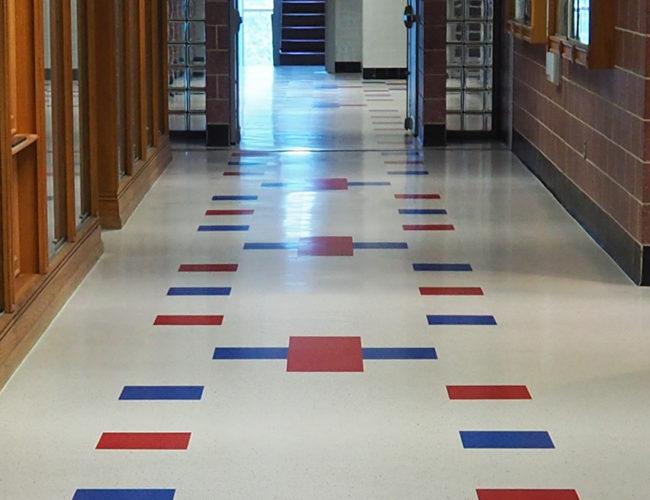 VCT In School Hallway